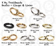 X by #Trollbeads - loving the concept! I'm thinking rubber and silver....