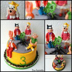 CLOVERLEAF (Čtyřlístek) Birthday Cake, Desserts, Tailgate Desserts, Birthday Cakes, Deserts, Postres, Dessert, Cake Birthday, Birthday Sheet Cakes