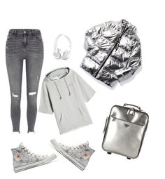"""""""Untitled #131"""" by darknessgir ❤ liked on Polyvore featuring Converse, SJYP, Prada, Ivy Park, River Island and Beats by Dr. Dre"""