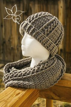 Ravelry: Cables & Braids Cowl & Beanie Set pattern by Manda Nicole $2.50 USD