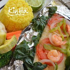 ¿Qué les parece este rico filete preparado en la Palapa Kin Ha?  How about a delicious fish dish cooked at Palapa Kin Ha?  Reserve en / Book in: reservaciones@beachscape.com.mx