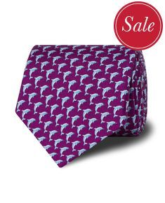 Fuchsia Dolphin Print Silk Tie Silk Ties, Dolphins, Accessories, Fashion, Moda, Fashion Styles, Fasion, Ornament