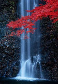 Minoh Waterfall near Osaka Japan