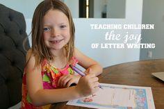 Teaching children the joy of letter writing