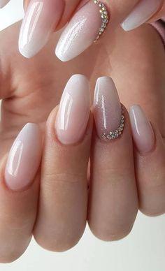 Elegant Nail Designs, Elegant Nails, Stylish Nails, Trendy Nails, Short Nail Designs, Classy Nails, Bride Nails, Wedding Nails, Best Acrylic Nails