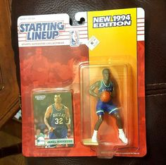 JAMAL MASHBURN Starting Lineup 1994 NEW UNOPENED Figure & Card DALLAS MAVERICKS #KENNER #DallasMavericks
