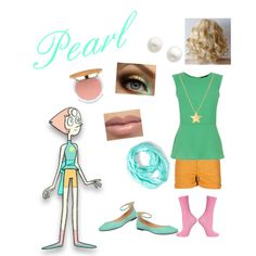 Pearl from Steven universe by zamantha-palazuelos on Polyvore featuring Oasis, See by Chloé, Topshop, Steven by Steve Madden, Reeds Jewelers, SOPHIE by SOPHIE and Isaac Mizrahi