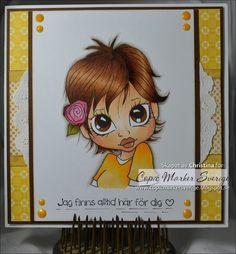 Copic Marker Sweden ~Skin E11-21-00-000-R20 Eye / Hair E37-39-35-33  Yellow Y38-35-32 Shadow W4-2-1.
