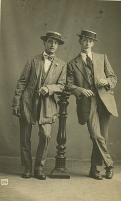 Gents from the 1910s.