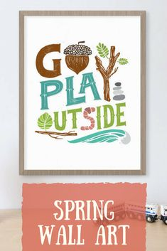 I LOVE the artist details of this wall art! Perfect for spring! #affiliate #wallart #goplayoutside #handmade #spring