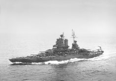 14 in New Mexico class battleship USS Mississippi, early 1943. Having fortunately being absent from Pearl Harbor on December 7 1941 she served throughout the Pacific campaign, notably in the last ever combat between battleships at Surigao Strait in November 1944. She survived well into the 1950s as a test bed for guided weapons.