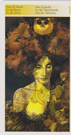 Tarot de los Orígenes Ace of Jewels (Pentacles) - Tarot of the Origins