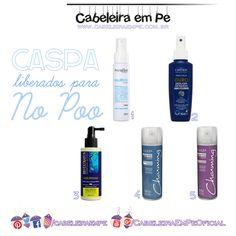 Caspa: 5 produtos anticaspa Liberados para No Poo e Low Poo: Aquaflora, Capicilin, Bio Extratus e Charming (Cless).