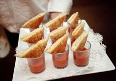 grilled cheese and tomato soup shooters!