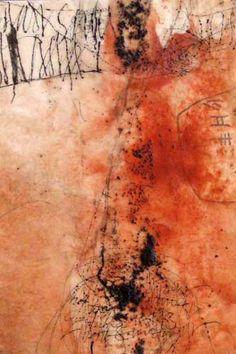 Yuko Wada, untitled, sumi, beeswax, pigment on washi