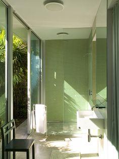 KR Architect - New York - Architect - Sleek - Green Color Scheme - Green - White - Contemporary - Bathroom - Glass - Panel