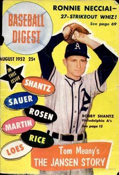 baseball digest covers | Baseball Digest - August 1952