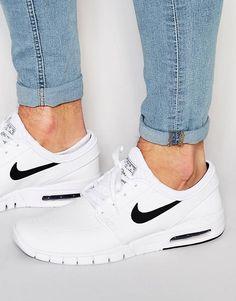 official photos 6cd21 2e9a7 Nike SB Stefan Janoski Max Leather Trainers - shop for mens shoes online,  discount shoes mens, mens white dress shoes