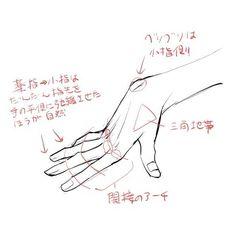 画像】「色気のある手の描き方」がTumblrで話題   Qlay