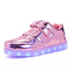 super popular 006ec 9b57d Chica Zapatos PU Otoño   Invierno Confort   Zapatos con luz Zapatillas de  deporte Con Cordón   LED para Verde   Rosa   Azul Real   TR (Termoplástico)