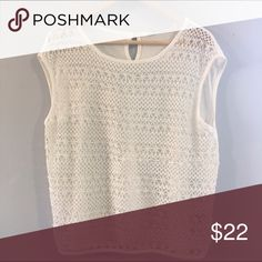 White Knit Top EUC. Fast shipping. Tops