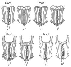 Butterick 5662 Historic Laced & Boned Corsets & Basques Sewing Pattern