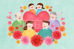 PAI125, 프리진, 일러스트, 가정의달, 에프지아이, 사람, 캐릭터, 가정, 가족, 패밀리, 행복, 사랑, 생활, 라이프, 5월, 남자, 여자, 봄, 꽃, 식물, 단체, 엄마, 아빠, 할아버지, 노인, 노후, 노후생활, 어린이, 어버이날, 카네이션, 하트, 소년, 소녀, 할머니, 일러스트, illust, illustration #유토이미지 #프리진 #utoimage #freegine 19926477