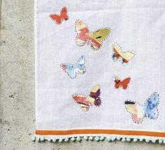 No Sew Anthropologie DIY Tea Towel | http://hellonatural.co/no-sew-anthropologie-diy-tea-towel/