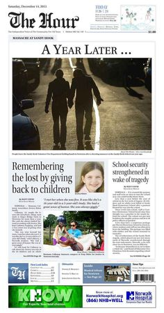 Connecticut Newspaper Front Pages Mark One Year Since Sandy Hook