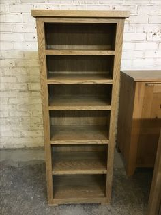 Solid Oak Bookcase From Cobwebs Furniture Company.