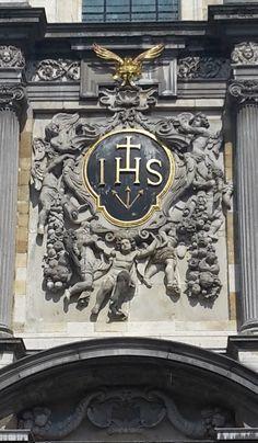 Detail Sint Carolus Borromeus Church, Antwerp, Belgium