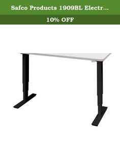 """Safco Products 1909BL Electric Height-Adjustable Table Base (Table Top sold separately), Black. Make standing a part of your workday with the Electric Height-Adjustable Table. The Table Base (top sold separately) easily adjusts from 24"""" to 50""""H, including 1"""" worksurface, at 1.5"""" per second. Allows users the choice to sit or stand while they work, and easily transition from one position to another. Table base features a quiet motor (<50dB) that won't disturb others in the area. Sturdy…"""
