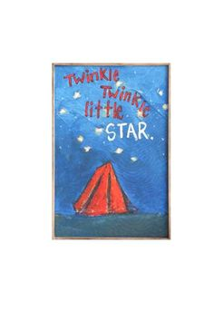 "Tin blue wall decor with stars.  Measures: 14-1/4""L x 18-1/2""H   Tent Wall Art by Creative Co-Op. Home & Gifts - Home Decor - Wall Art Kentucky"