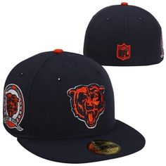 New Era Chicago Bears 59FIFTY Patched Fitted Hat - Navy Blue