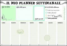 Planner settimanale Organizer pronto sta stampare! Free download. *Dolce Fantasia di Kriby*