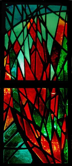 """Gaia's Palette"" by Kate Whitefield. Her blog (katewhitefield.blogspot.com) shows this window being made step by step."