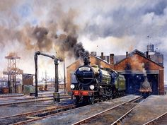 Train Painting by Howard Fogg