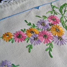 Vintage embroidery 1970 Handmade Vintage Housewares by MyWealth, $8.50