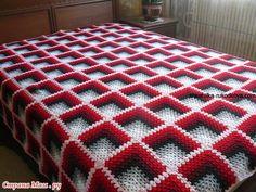 Basket Weave Crochet Pattern, Crochet Bedspread Pattern, Afghan Crochet Patterns, Knitting Patterns, Baby Afghan Crochet, Crochet Square Blanket, Crochet Stitches For Blankets, Granny Square Crochet Pattern, Crochet Motif