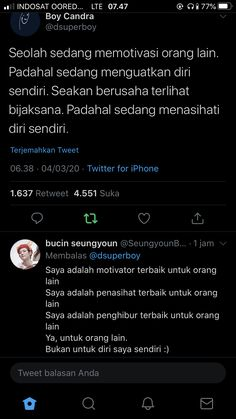 Twitter T, Twitter Quotes, Reminder Quotes, Self Reminder, Quotes Deep Feelings, Mood Quotes, Quotes Galau, Story Quotes, Inspirational Quotes Pictures