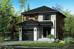 Contemporary Style House Plan - 3 Beds 1 Baths 1761 Sq/Ft Plan #25-4288 Exterior - Front Elevation - Houseplans.com