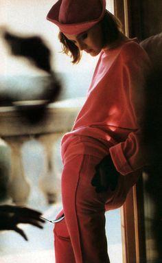 Arthur Elgort for American Vogue, July 1984. Clothing by Sonia Rykiel.