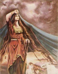 لوحة بعنوان الشموخ للفنان التشكيلي فتحي غبن