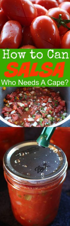 How to Can Salsa | Who Needs A Cape? Must read for beginners---with pics too!