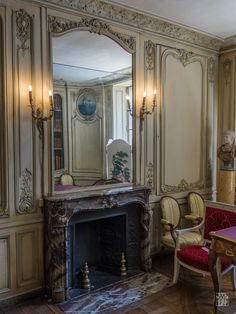 French Interior Design, French Interiors, Foyers, Versailles, French Style, French Country, Chateau Hotel, French Architecture, Fireplace Wall