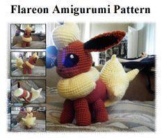 Flareon (Pokemon) Amigurumi ~ Free Pattern here: http://raichely.deviantart.com/art/Flareon-Amigurumi-Pattern-373570488