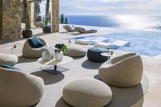 Outdoor Lounge, Outdoor Spaces, Outdoor Living, Outdoor Decor, Outdoor Ideas, Outdoor Furniture Design, Lounge Furniture, Furniture Ideas, Modern Garden Furniture
