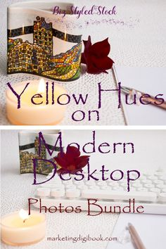 Styled stock photography - Yellow Hues on Modern Desktop Bundle for exclusive business promotion.
