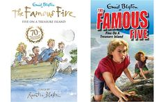 Famous Five Covers - new ones by Quintin Blake and by contrast the ghastly 1980s design - truly dreadful. Why don't they just reissue them with the original covers?