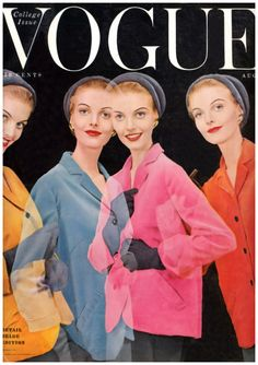 A shake in young fashion Vogue Photo Erwin Blumenfeld Vogue Magazine Covers, Fashion Magazine Cover, Fashion Cover, Vogue Vintage, Vintage Vogue Covers, Vintage Ladies, Anna Wintour, Fifties Fashion, Vintage Fashion